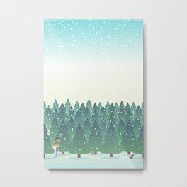 First Snowfall of the Season Metal Print
