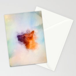 Belgian Malinois Puppy Painting - Mechelaar Stationery Cards