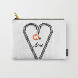 Heart My Line Carry-All Pouch