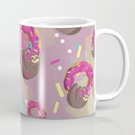 Cute sloth hanging from the donut Coffee Mug