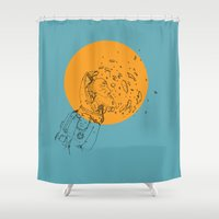 third eye Shower Curtains featuring Third Eye by Matt Smith