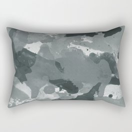 PPG Night Watch Pewter Green Splatters Watercolor Camo Pattern Rectangular Pillow
