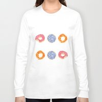 doughnut Long Sleeve T-shirts featuring doughnut selection by cardboardcities