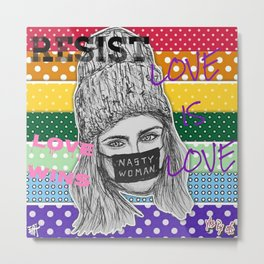 (Cara Delevingne - LGBT) - yks by ofs珊 Metal Print