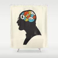 heisenberg Shower Curtains featuring Heisenberg by Wharton