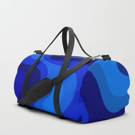 Blue Abstract Art Colorful Blue Shades Design Duffle Bag