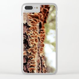 Aspiring Shrooms Clear iPhone Case