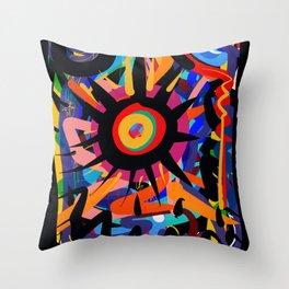 Black Sun is shining Abstract Art Street Graffiti Throw Pillow