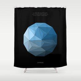 Continuum black Shower Curtain