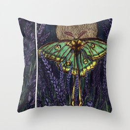 Lavender in Moonlight Throw Pillow