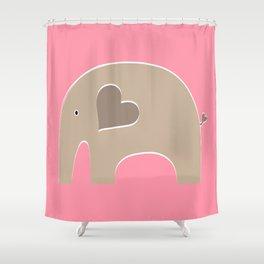 Pink Safari Elephant 2 Shower Curtain