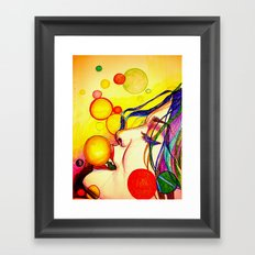 Kissing bubbles Framed Art Print