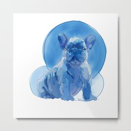 Monochromatic French Bulldog Metal Print