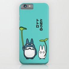Chu & Chibi Totoro Pop art - Blue Version Slim Case iPhone 6s
