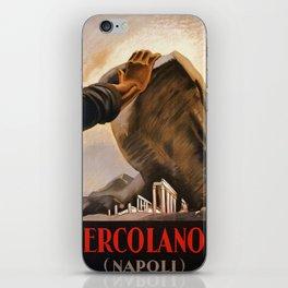 Ercolano Naples Italian art deco ad iPhone Skin