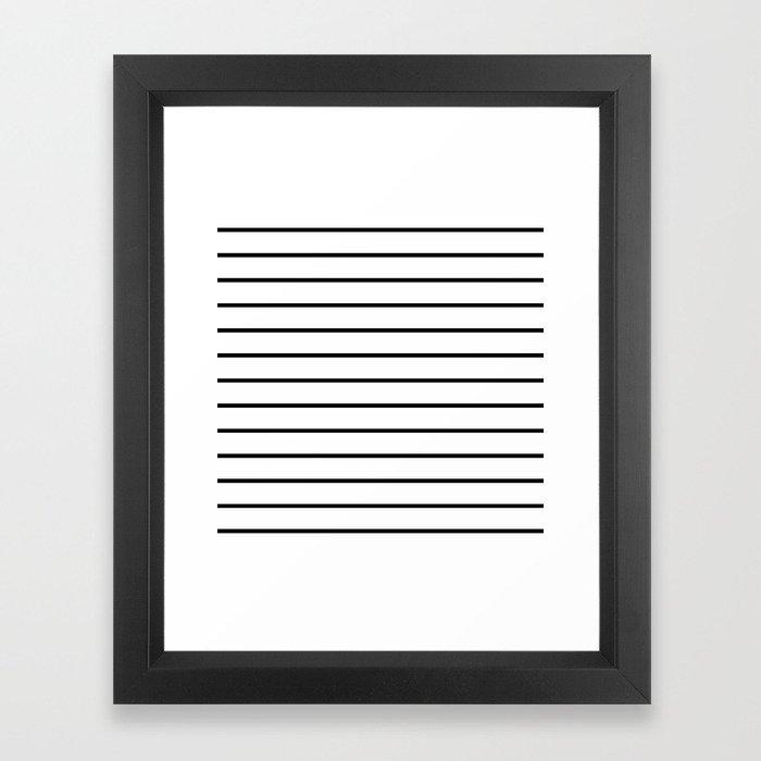 Minimalist Stripes Framed Art Print