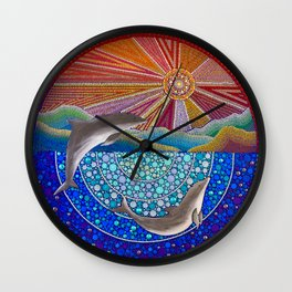 Dolphins Wall Clock
