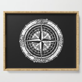Compass Rose Serving Tray