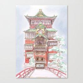 Spirited Away Bath House Canvas Print