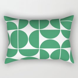 Mid Century Modern Geometric 04 Green Rectangular Pillow