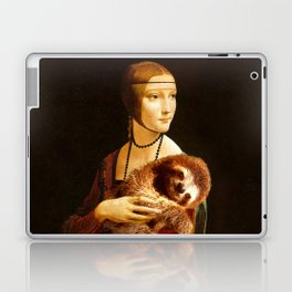 Lady With A Sloth Laptop & iPad Skin