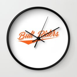 Rodeo cowboy riding bull western lasso gift Wall Clock
