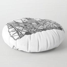Portland Oregon Floor Pillow