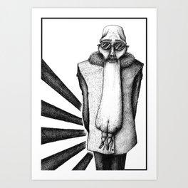 ASS FACE Art Print
