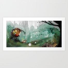under ocean Art Print