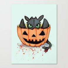 Halloween Dragon Canvas Print