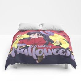 Happy Halloween Rei Comforters