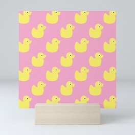 Cute yellow duckies Mini Art Print