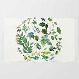 Circle of Leaves Rug