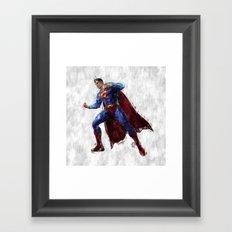 Superman Hero Framed Art Print