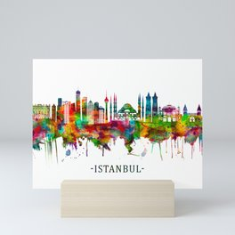 Istanbul Turkey Skyline Mini Art Print