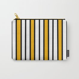 Yellow, Black & White Stripes Carry-All Pouch
