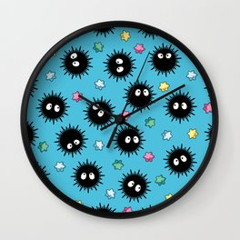 Soot Sprites (Light Blue) Wall Clock