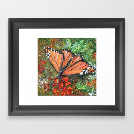 Monarch Butterfly Framed Art Print