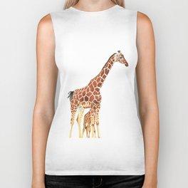 Giraffe Art - A Mother's Love - By Sharon Cummings Biker Tank