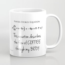 Wave Equation and Navier-Stokes Equation Coffee Mug Coffee Mug