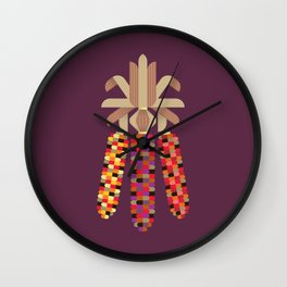 Indian Corn Wall Clock