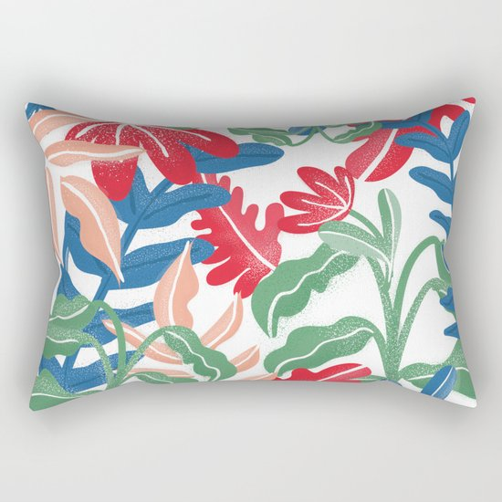 Tropical Vibes Pattern Rectangular Pillow