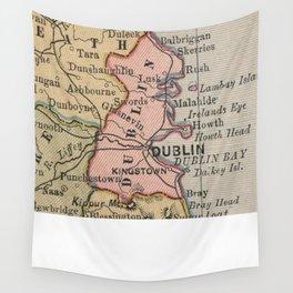 Vintage Map of Dublin Ireland (1883) Wall Tapestry