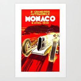 Monaco 1930 Grand Prix Art Print