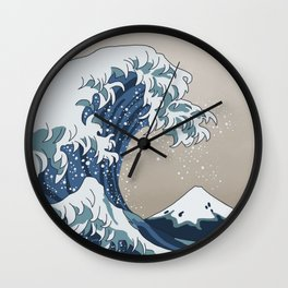The Big Wave (homage to The Great Wave) Wall Clock