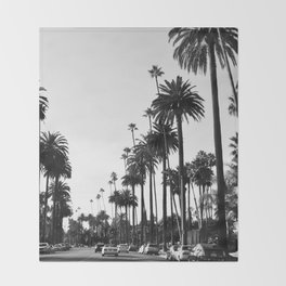 Los Angeles Black and White Throw Blanket