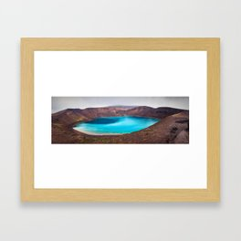 Krafla Viti Crater in Northeast Iceland Framed Art Print