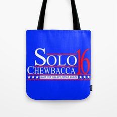 Han Solo & Chewbacca For President! 2016 Tote Bag