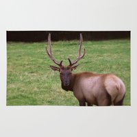 antlers Area & Throw Rugs featuring Antlers by FortuneArt&Photography