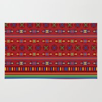 mexican Area & Throw Rugs featuring Mexican Mood by rusanovska